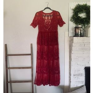 💃🏻 Red Lace Dress 💃🏻